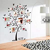 JQSM Nuevo Árbol de Marco de Fotos 3D Pegatinas de Pared TV Sofá Decorativos para El Hogar DIY Crystal Decal Family Tree Room Poster Decoración de la Pared