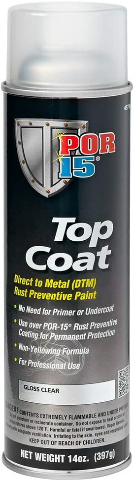 POR-15 45718 Top Coat Gloss Clear Spray Paint 14 fl. oz.