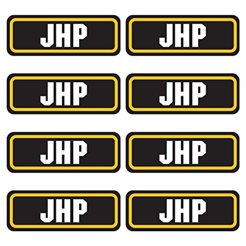 JHP ammo sticker 8 PACK - LAMINATED Can Box Vinyl Decal bullet ARMY Gun safety Hunting label