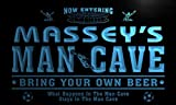 qd1469-b MASSEY's Man Cave Soccer Football Neon Beer Sign