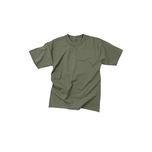 Amazon.com  T-SHIRT -100% COTTON   FOLIAGE GREEN  Military Apparel ... f5ae4943098