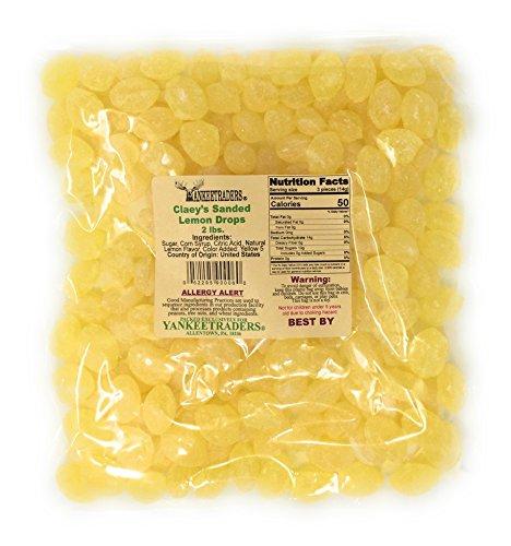 Candy Sour Lemon (Claeys Sanded Candy Drops, Lemon, 2 Pound)