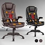 Murtisol Office Massage Chair Massage Recliner Ergonomic Gaming Chair Leather Brown