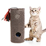 Kalttoyi Cat Corrugated Cardboard Cylinder Scratch Board Claws Care Resistance Toys