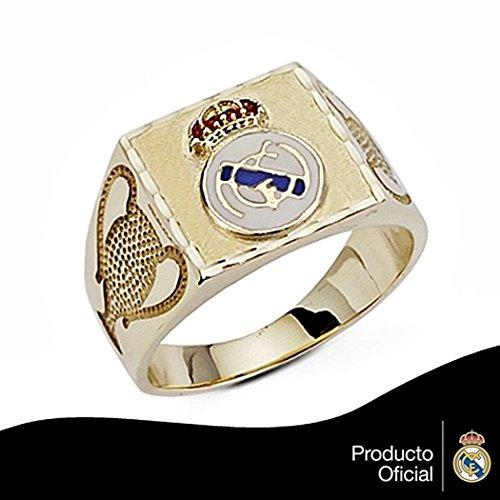 Chevalière Real Madrid de loi bouclier 9k coupe d'or gros trophée [6494] - Modèle: 0530-137