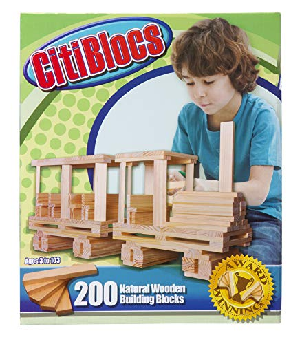 CitiBlocs 200-Piece Natural-Colored Building Blocks ()