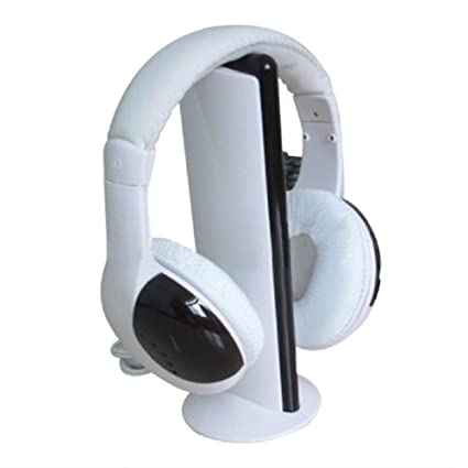 CandyQ 5 in 1 Radio Wireless Cordless Gaming Headphone Headset For PC TV (White)