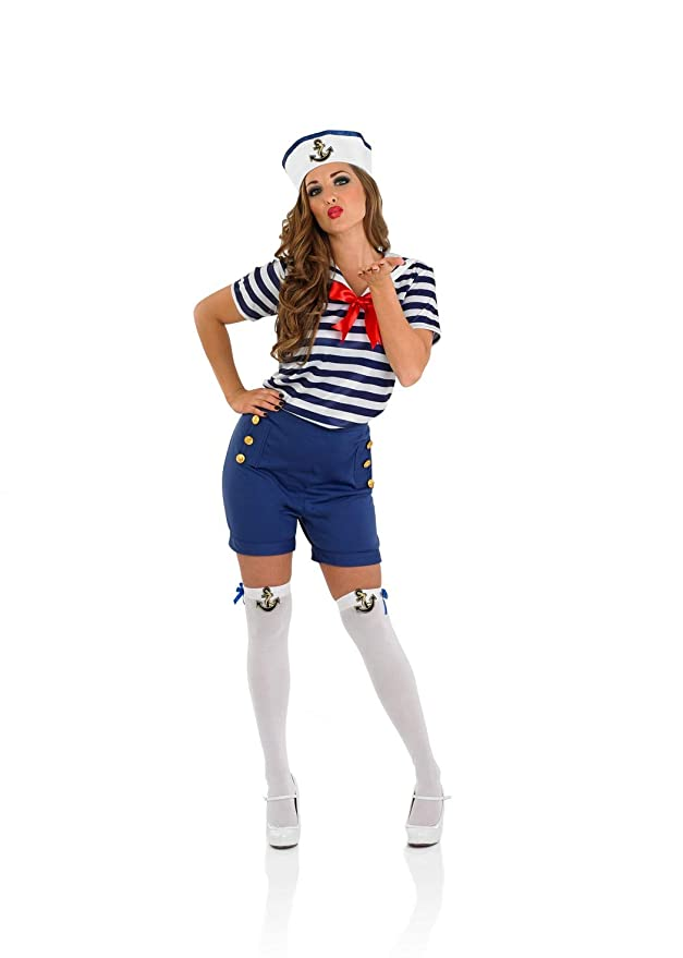 Sailor Dresses, Nautical Theme Dress, WW2 Dresses fun shack Womens Sailor $29.99 AT vintagedancer.com