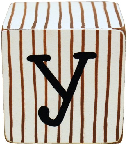 New Arrivals Letter Block Y, Chocolate/White