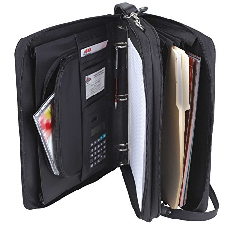 Padfolio 3-Ring Binders, Folder File Divider Organizer Planner w/ Smart Handle, Briefcase Luggage Portfolio (Padfolio Cd)