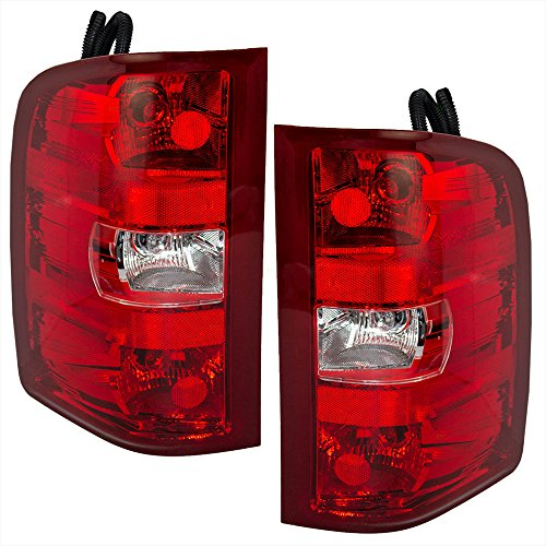 Driver and Passenger Taillights Tail Lamps Replacement for Chevrolet GMC Pickup Truck 25958482 25958483 Oem Tail Light