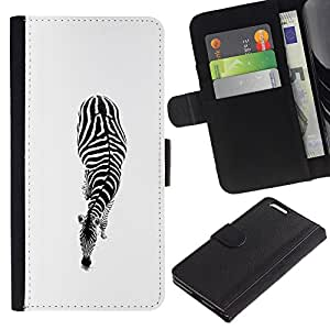 Blanco Negro minimalistas Rayas- la tarjeta de Crédito Slots PU Funda de cuero Monedero caso cubierta de piel Para Apple (5.5 inches!!!) iPhone 6+ Plus / 6S+ Plus