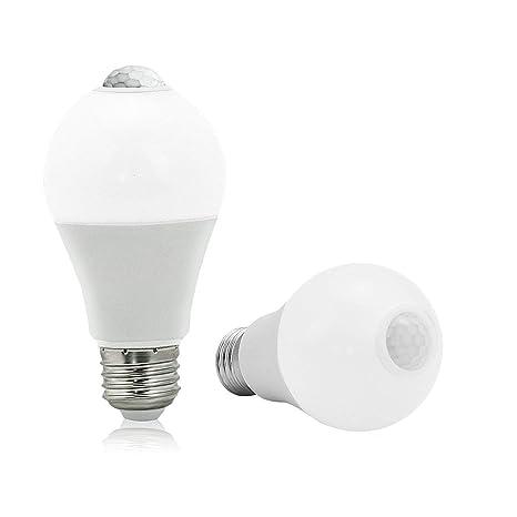 brtlx infrarrojos Sensor de movimiento luz A19 bombilla LED de 13 W E26 Auto On/