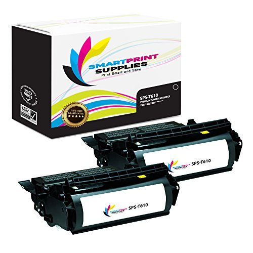 Smart Print Supplies Compatible 12A5740 Black High Yield Toner Cartridge Replacement for Lexmark Optra T610 T612 T614 T616 Printers (25,000 Pages) - 2 Pack