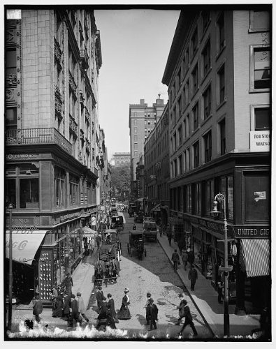Photo: Bromfield Street,commercial facilities,buildings,Boston,Massachusetts,MA,1900