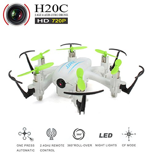 REALACC H20C Helicopter Mini Quadcopter Drone with 720PHD Camera Headless Mode 3D Rolling Remote Control Nano Quadcopter RTF (white)