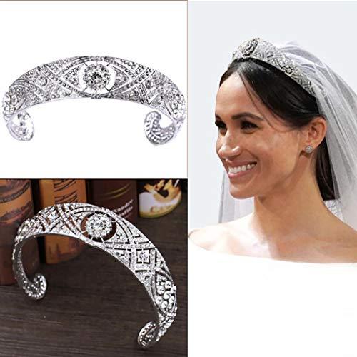 Leiothrix Queen Crowns and Tiaras Wedding Rhinestone Crown Silver Bridal Hair Jewelry Hair Piece