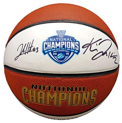 National Soccer Championships - Kris Jenkins Josh Hart Dual Signed Villanova National Championship Basketball JSA ITP