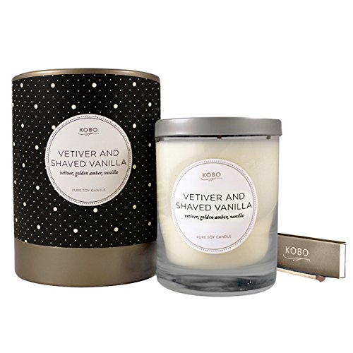 Kobo Candles Kobo Soy Candle, Vetiver and Shaved Vanilla