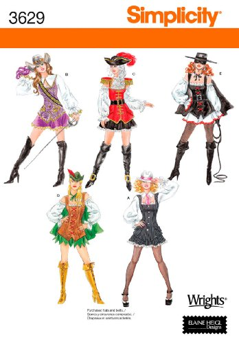 Simplicity Sewing Pattern 3629 Misses Costumes, HH (6-8-10-12)]()