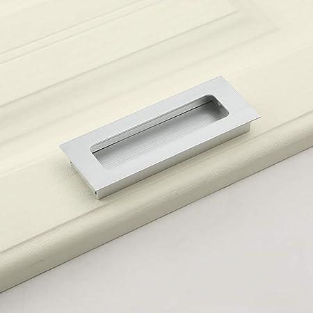 YACHENG manija de Puerta integrada, manija Invisible de cajón para Armario, manija de Puerta corredera, aleación de Aluminio (Negro, Oro, Plata): Amazon.es: Hogar