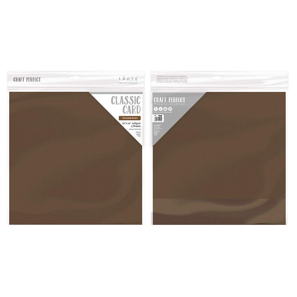 Marrone Cioccolato 12x12 5 Pack Tonic Studios Carta