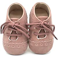 Dukars Baby Boys Girls Soft Sole Moccasins Lace-up Infant Toddler Shoes Sneaker