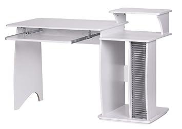 Finebuy Rio Schreibtisch 130cm Breit Mit Cd Fach Ablage Aufsatz