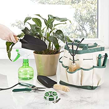 Pure Garden 8-Piece Garden Tool and Tote Set