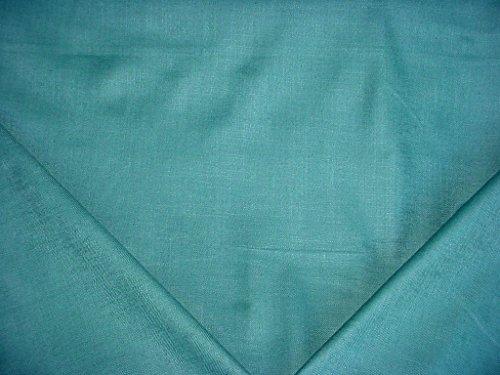 o in Turquoise - Beautiful Aegean Linen / Rayon Woven Herringbone Designer Upholstery Drapery Fabric - By the Yard (Linen Designer Upholstery Fabric)