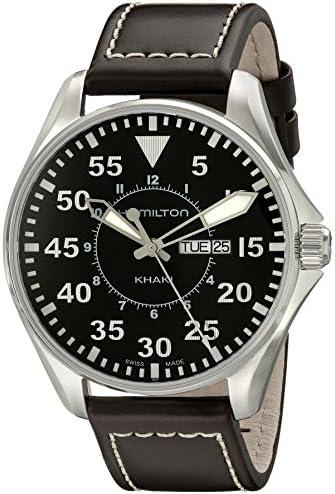 Uptreck-II Burgundy By Conqueror Burgundy Leather Black Dial Date Watch CNQU-032114b