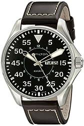 Hamilton Men's H64611535 Khaki King Black Dial Watch