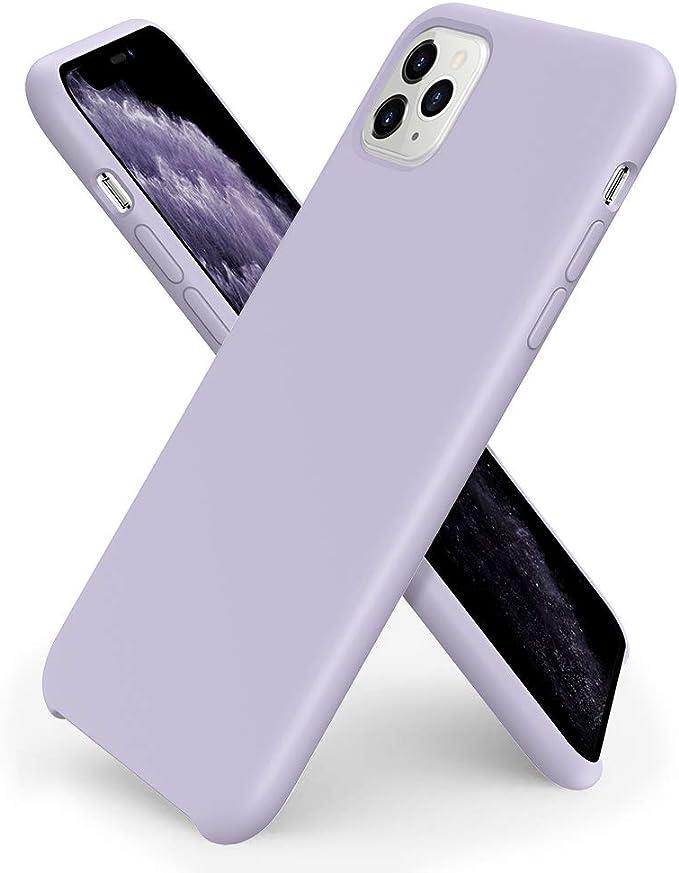 Ornarto Kompatibel Mit Iphone 11 Pro Silikon Case Hülle Ultra Dünne Flüssig Silikon Handyhülle Schutz Für Iphone 11 Pro 2019 5 8 Zoll Helles Lila Elektronik