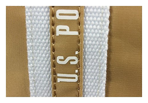 Schöne praktische Nylon Beige Markentaschen U.S. Polo Assn Beige US15S002-04BG über die Schulter