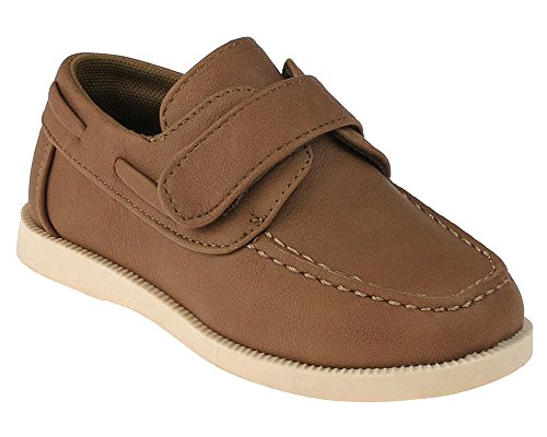 Capelli New York Faux Leather with Velcro Strap Toddler Boys Slip-On Shoe Tan 9