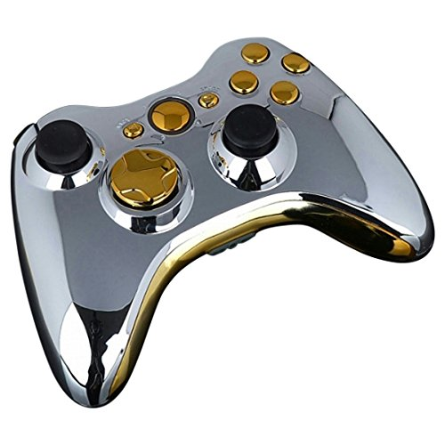 Mod-Freakz-Shellbutton-Kit-Chrome-Collection-SilverGold-NOT-A-CONTROLLER-For-Xbox-360-Controllers