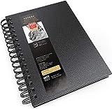 Arteza Sketch Book, 5.5x8.5-inch, Black Drawing