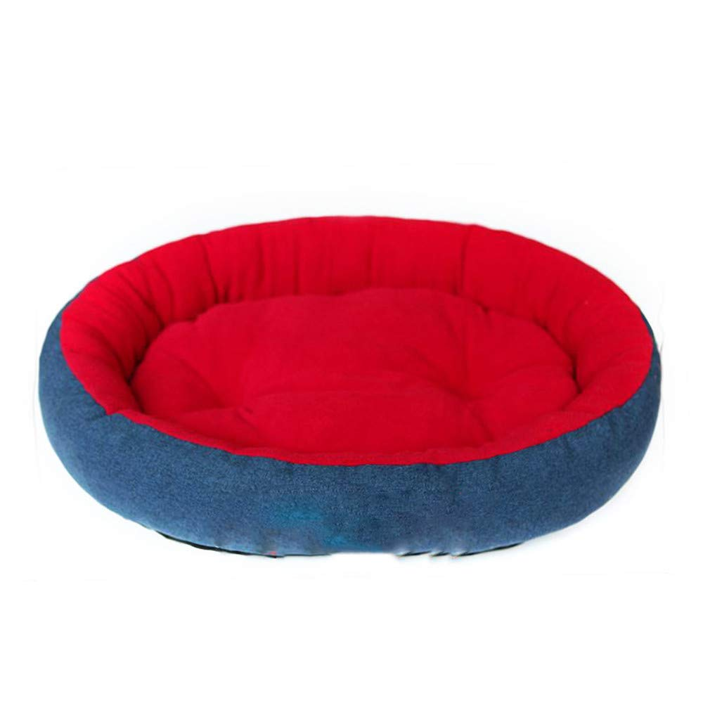 bluee 31.4x23.6x7.08(in) bluee 31.4x23.6x7.08(in) LINGGE pet beds for dogs Kennel dog mattress sleep nest bite wear resistant cotton and linen medium size large trumpet pet universal