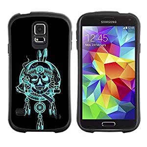 Suave TPU GEL Carcasa Funda Silicona Blando Estuche Caso de protección (para) Samsung Galaxy S5 / CECELL Phone case / / Indian Chief Feathers Hatchet Skull /