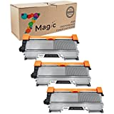 7Magic Compatible Toner Cartridge Replacement for Brother TN450 TN420 Use in Brother HL 2240 2280DW 2270DW MFC 7860DW 7360N Series Printer (3 Pack Black)