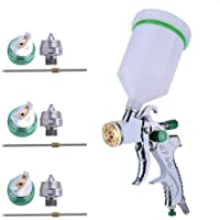 $45 » MASO Car HVLP Air Spray Gun Set Professional Air Paint Kits with 3 Nozzle and Cups on Top 1.4mm…