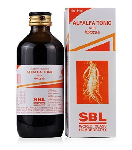 Pack of 2 - Alfalfa Tonic with Ginseng by SBL Homeopathy - 180ml