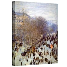 Art Wall Boulevard Capucines Gallery Wrapped Canvas by Claude Monet, 14 by 18-Inch