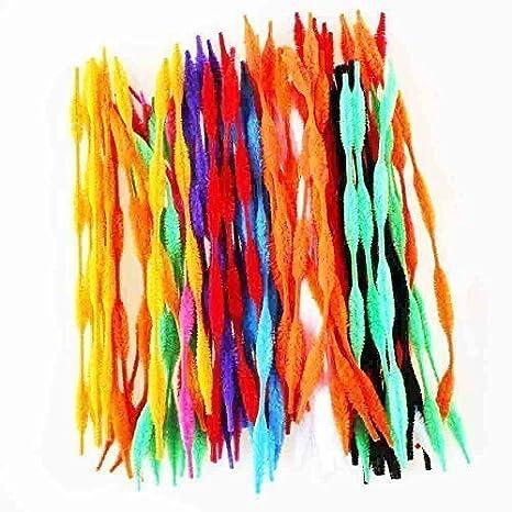 Limpiapipas Colores Surtidos 100pieza grande Paquete purpurina Tubo Cleaners chenilla Stem