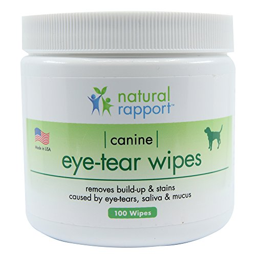 (Natural Rapport Eye Tear Stain Remover Wipes for Cats and Dogs Pet Face Tear Stain Remover Supplies (100 Wipes))