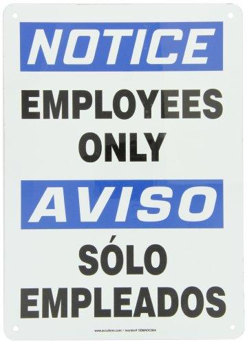 Accuform SBMADC804VA Aluminum Spanish Bilingual Sign, Legend