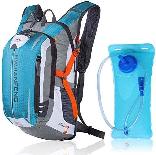 自転車収納袋、サイクリングバックパック - 水和膀胱アウトドアスポーツウォーターバッグクライミングキャンプハイキング自転車バイクバッグ付き18Lサイクリングバックパック (Color : Lake blue)
