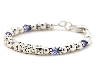 dc8f64f4ccb11 Amazon.com: Lily Brooke Personalized Mommy Bracelet - Sterling ...