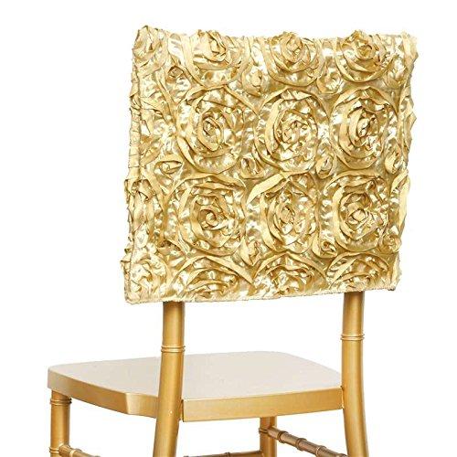 Champagne Grandiose Rosette Chair Cap