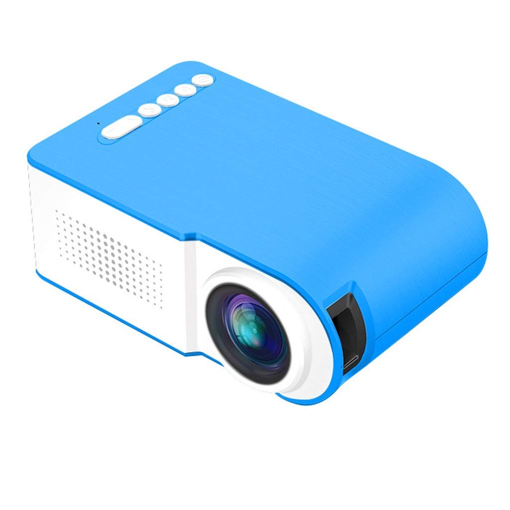 Wangcheng tyy Portable HD Projector Wireless 1080P, Projection Distance: 0.8-2M, Resolution: 1920 1080, Power 10-24 (w), for Home Theater, Movies and Video Games (Color : Blue)